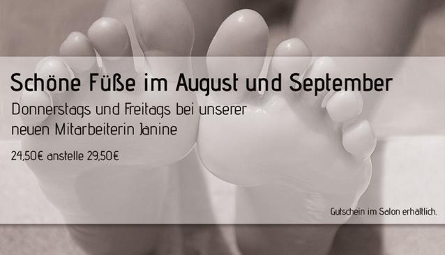 Schöne Füße im August und September